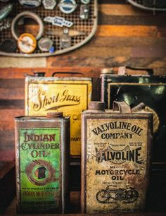 RARE Original Motorcycle Motor Oil Can Collection