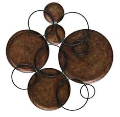 Details Construction Size Warranty Versitile metal wall art featuring hammered copper discs and black metal circles. Gives texture and dimension which can be used anywhere Hammered Copper Discs Connected by Black Metal Circles Wall Art Limited Warranty Industrial Wall Art, Copper Wall Art, Copper Metal, Hammered Copper, Metal Wall Art, Black Metal, Copper Home Accessories, Contemporary Wall Decor, Copper Accents