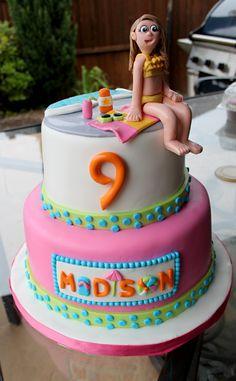 Pool Party Birthday Cake » Layered Bake Shop