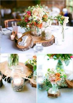 Rustic Wedding Centerpieces A good resource of center piece decor to create that lovely stylish rustic wedding centerpieces mason jars center pieces Wedding examples 4497565699 pinned on 20190213 Wedding Centerpieces, Wedding Table, Fall Wedding, Our Wedding, Dream Wedding, Wedding Decorations, Table Decorations, Wedding Rustic, Chic Wedding