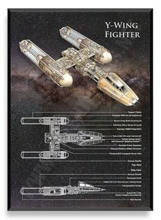 Y-Wing Poster Star Wars Ship Star Wars by PatentPrintsPosters