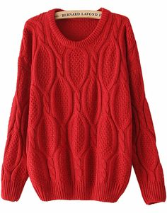 Shop Red Long Sleeve Mohair Cable Knit Sweater online. Sheinside offers Red Long Sleeve Mohair Cable Knit Sweater & more to fit your fashionable needs. Free Shipping Worldwide!