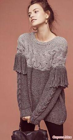 Всем привет, открываю онлайн впервые так что прошу тапками не кидать Со мной можно на ты Вязать будем вот такой свитер, нашла его на сайте anthropologie дизайнер Laura Siegel