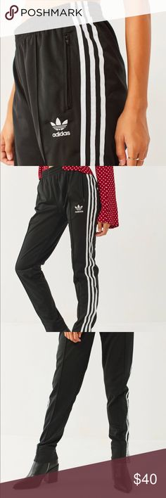 Adidas Original Super Girl Pants Original Adidas track pants. Runs small. Only wore once because I didn't like how they fit me. Classic look that works for fitness or just hanging out! adidas Pants Track Pants & Joggers