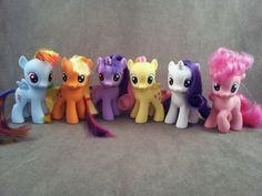 Filly mane 6 - FiM Custom my little ponies by hannaliten