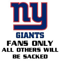New York Giants Fans only