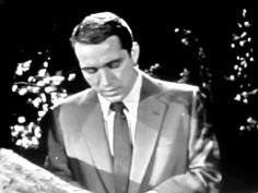 Perry Como Live - Because - 1956 Music For You, Good Music, Life In The 1950s, 50s Music, Perry Como, Types Of Music, What Is Life About, American Singers, Sweet Memories