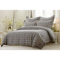 Black-and-White-Squares-Duvet-Cover-Set-Style-1017-Cherry-Hill-Collection