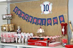 Cute Concession stand at a baseball party