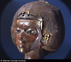 *QUEEN TIYE:  18th dynasty, c. 1403-1365 BC, The Egyptian Museum, Berlin.
