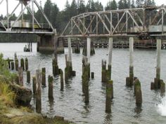 Umpqua River RR Crossing - Reedsport, OR, c. 2000s Southern Oregon Coast, 2000s, Fishing, River, Peaches, Rivers, Pisces, Gone Fishing