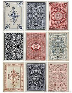Graphic Design Ideas - Playing cards - Good old card games. So many excellent games. I grew up playing . Textures Patterns, Color Patterns, Print Patterns, Card Patterns, Deck Patterns, Paper Journal, Tarot, Motifs Textiles, Vintage Playing Cards