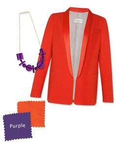 Orange You Glad? 4 Shades to Wear With the Punchy Color of Mandarin Carolina Herrera, Colours That Go Together, Orange Sandals, Purple Blazers, Kate Spade Saturday, Color Naranja, Orange You Glad, Warm Spring, Crazy Colour