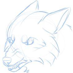 angry fox sketch #art #doodle #fox #drawing #digitalart