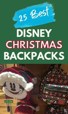Best Disney themed Christmas backpacks great for wearing to Disney World, Disneyland Paris, traveling during the holiday season, etc. Also a great gift for a friend or your child. Themed to Mickey Mouse, Minnie Mouse, Frozen, Lilo