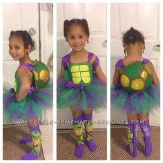 Cute Ninja Turtle Girl Costume... Coolest Halloween Costume Contest