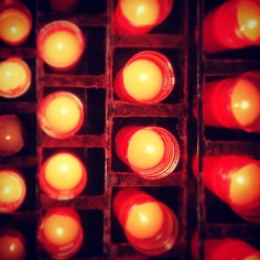 Catalunya – Candles of the monastery of Montserrat