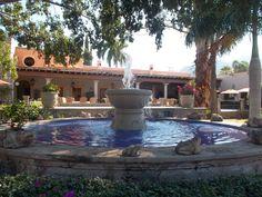Fountain at the beautiful La Hacienda resort
