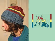 Pure wool CAKE hat via Etsy