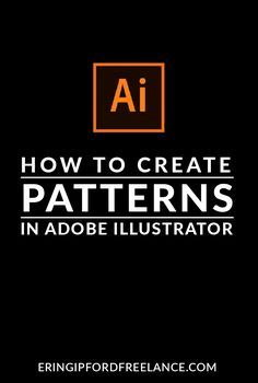 In this Adobe Illustrator Tutorial I will show you how to create a custom pattern swatch! It's super easy! Web Design, Flat Design, Graphic Design Tutorials, Layout Design, Learn Illustrator, Adobe Illustrator Tutorials, Photoshop Illustrator, Photoshop Design, Photoshop Tutorial