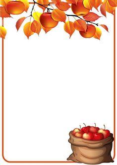 Framed Wallpaper, Fall Wallpaper, Foto Frame, Art For Kids, Crafts For Kids, Fall Background, Thanksgiving Wallpaper, Autumn Illustration, Apple Art