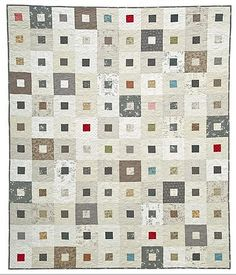 Whitewash Window Panes Quilt Kit by Meg Hawkey for Lecien