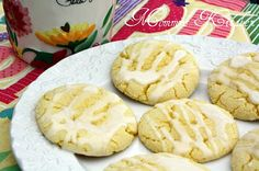 Mommy's Kitchen - Old Fashioned & Country Style Cooking: Lemon Iced Cookies & Easy Monster Cookies {Gooseberry Patch Simple Shortcut Recipes. Lemon Cookies, Cake Mix Cookies, Iced Cookies, Cookie Desserts, Yummy Cookies, Just Desserts, Cookie Recipes, Delicious Desserts, Cupcakes