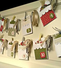 Scalloped Holiday Advent Banner made with Cricut Explore -- Ameroonie Designs. #DesignSpaceStar Round 5