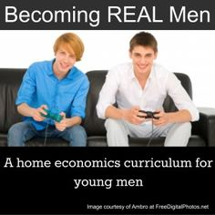 New home economics course for GUYS |