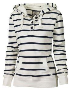 Fashionable Long Sleeves Striped Hoodie