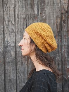 Guillemet hat pattern by Emily Platzer (knitting, beanie, slouch, fancy tiger crafts)