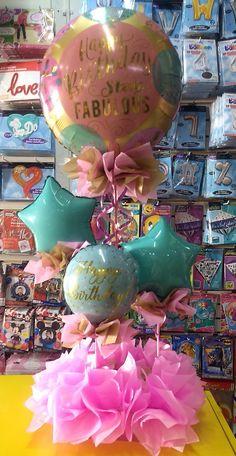Balloon Arrangements, Balloon Centerpieces, Balloon Decorations, Birthday Party Decorations, 25th Birthday, Baby First Birthday, Diy Birthday, Birthday Parties, Balloon Display