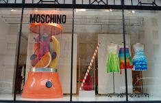 "MOSCHINO, London, UK, ""Tropical Caribbean Smoothies, 98% Fat Free"", pinned by Ton van der Veer"