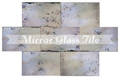 3x12 Glass Tile | Mirror Tile | Antiqued Mirror Backsplash Tiles