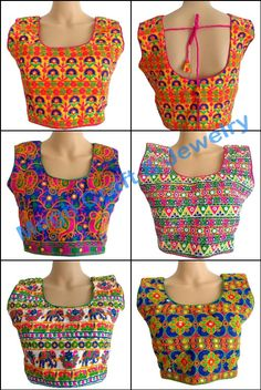 Bollywood Fashion wear sleeveless Embroidery Blouse - Readymade Kutch Embroidered Blouse - Wholesale Party wear Blouse - Elephant Kutch Embroidered Blouse   For Wholesale Visit@ www.indianethnicjewelry.com Etsy Shop @ https://www.etsy.com/shop/craftsofgujarat?ref=hdr_shop_menu