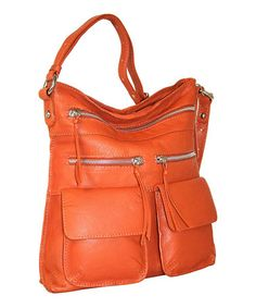 This Terra-Cotta Stroll Around the Town Crossbody Bag by Nino Bossi Handbags is perfect! #zulilyfinds