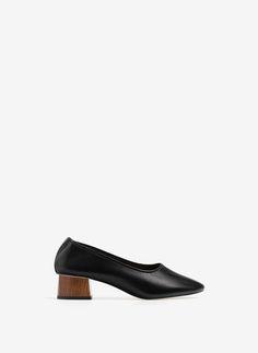Uterqüe Portugal Product Page - Calçado - Sapatos tacão - Sapato de salão tacão madeira - 89