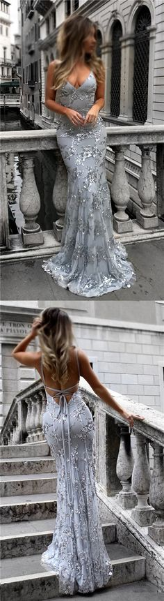 Silver Sequin Sparkly Mermaid Newest Prom Dresses, Evening Dresses #Silver #Sequin #Mermaid #Promdresses