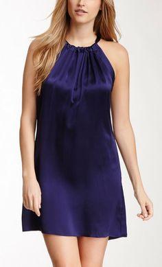 Purpleish Silk Dress