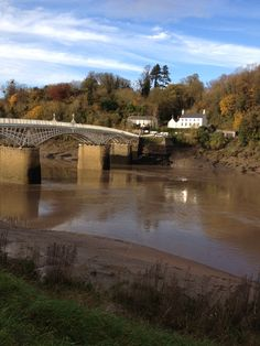 The Wye Bridge, the start of the Wales Coast Path in Chepstow.  That's England over there...