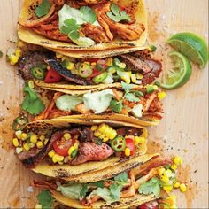 Spice-rubbed Grilled Flank Steak Tacos | Coastalliving.com