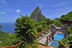 Our honeymoon getaway;  Ladera Resort, St. Lucia