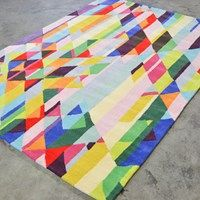 Xian Facet 78401 Rugs by Brink and Campman buy online from the rug seller uk Colorful Rugs, Multicoloured Rugs, Vibrant Colors, Colours, Hallway Runner, Carpet Design, Stripes Design, Floor Rugs, Free Uk