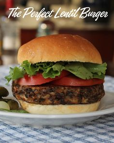 Food Lust People Love: Perfect Lentil Burgers #SundaySupper - The perfect lentil burgers have two secret ingredients, mozzarella cheese for fat and moisture and smoked paprika to mimic a little charbroiled flavor. Truly, you will not miss the meat.