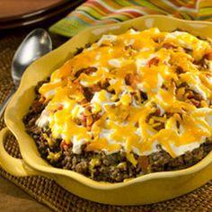 Mexican Beef & Corn Casserole #Recipe. #Celiac #coeliac, use #glutenfree #salsa.