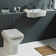 Phoenix MEGAN Back to wall Toilet with closed Soft Close Toilet Seat Phoenix quality products have innovative designs and has a unique style which Sink Vanity Unit, Bathroom Vanity Units, Loft Bathroom, Narrow Bathroom, Bathroom Toilets, Family Bathroom, Bathroom Furniture, Small Bathrooms, Bathroom Ideas