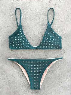 Sexy Ladies Lattice Detail Bikini Set