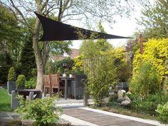 Schaduwdoek lange driehoek   www.zonz.nl