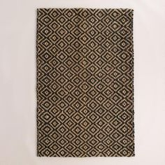 One of my favorite discoveries at WorldMarket.com: Black Diamond Chunky Weave Jute Aminah Area Rug