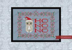 Christmas Grumpy Cat - Cross stitch PDF pattern